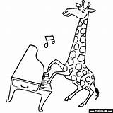 Coloring Pages Harpsichord Template Giraffe sketch template