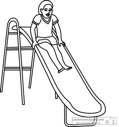 school playground clipart black and white school playground slide fun 09 outline classroom clipart