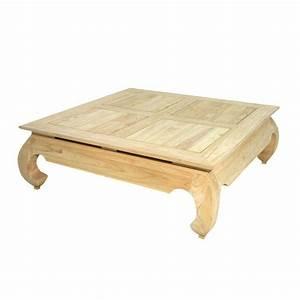 Table Basse Carrée : table basse carr e gm opium chine h v a meuble asiatique ~ Teatrodelosmanantiales.com Idées de Décoration