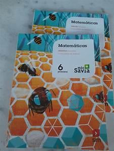 Libro Matematicas 6 U00b0 Primaria Sm Mas Savia De Segunda Mano