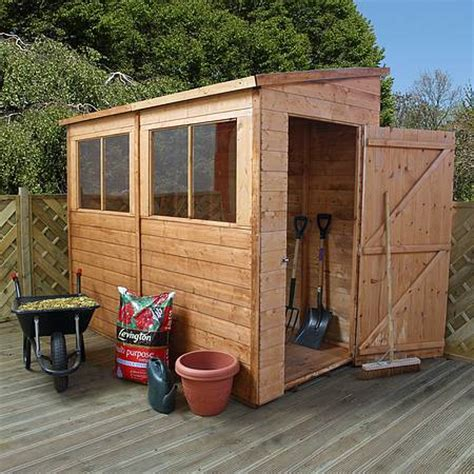 8 By 4 Shed by 8 X 4 Waltons Tongue And Groove Pent Garden Shed Waltons