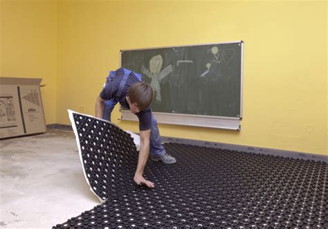 Dünnschichtige Fußbodenheizung