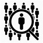 Icon Manpower Person Magnifier Human Privacy Resources