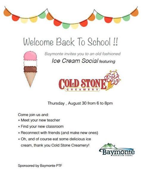 school ice cream social baymonte christian school