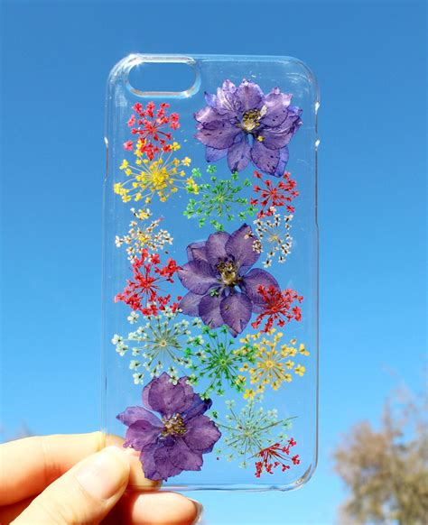 smartphone cases  real pressed flowers preserved
