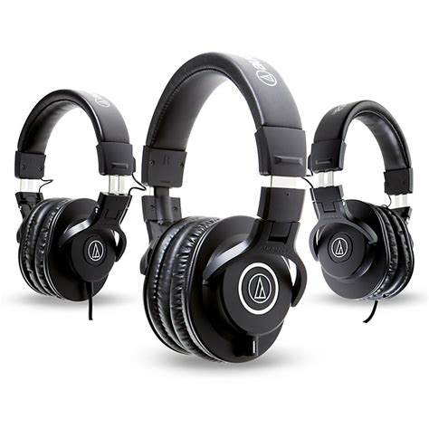 audio technica ath m40x headphones with 2 ath m30x
