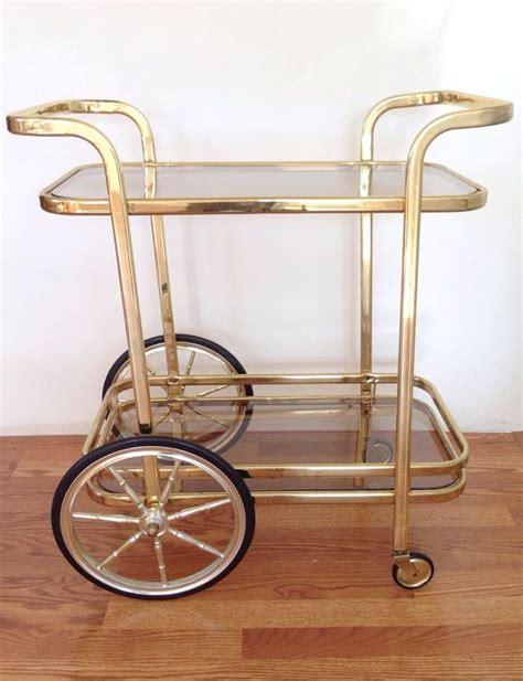 Vintage Bar Cart Gold