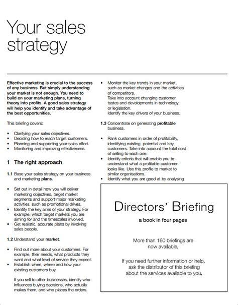 sales strategy plan template strategic sales plan templates 8 free sle exle format free premium templates