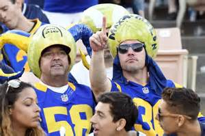 los angeles rams fans boo refs  calling team st louis