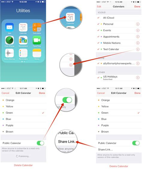 how to link calendars on iphone how to or make icloud calendars on iphone and