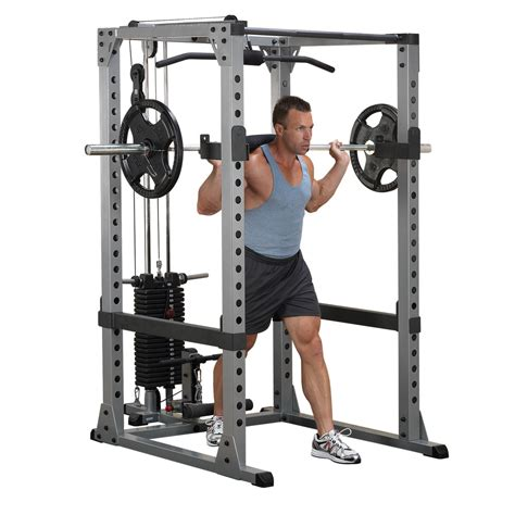body solid package power rack bench weight set lat dip attach plate tree ebay