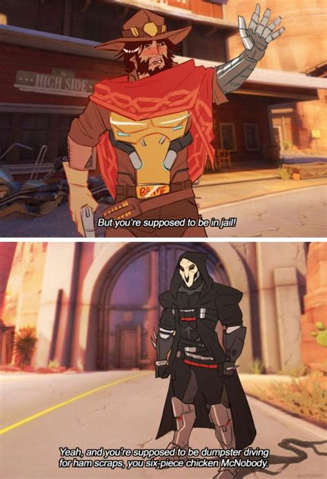 Overwatch Memes Tumblr - overwatch incorrect quotes jesse mccree and reaper gabriel reyes comic by ghost phage on