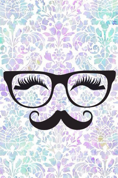 mostacho blesk iphone wallpaper nerd glasses