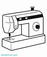 Machine Coloring Pages Sewing Weaving Food sketch template