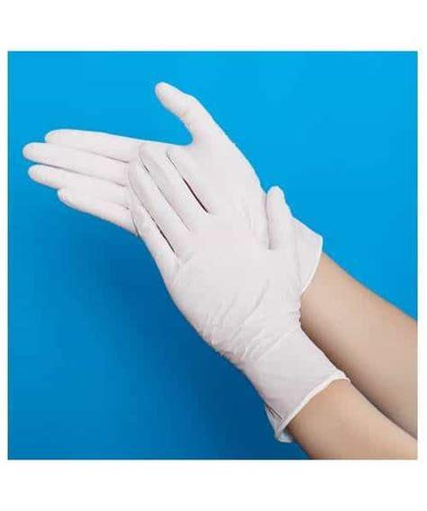 ถุงมือยางไนไตรสีขาว (1 pack/50 คู่) - SuperSafetyThailand