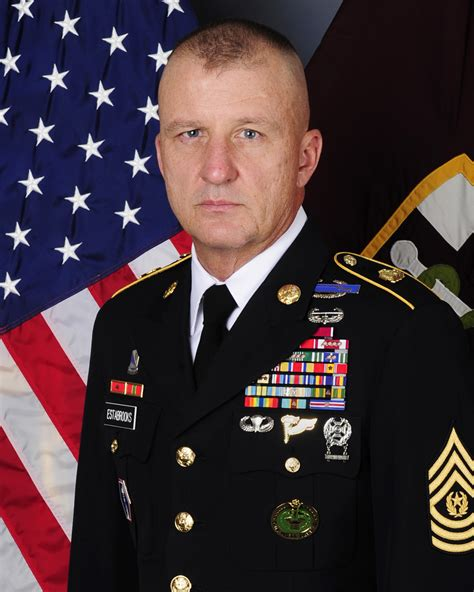 command sergeant major harold p estabrooks  army