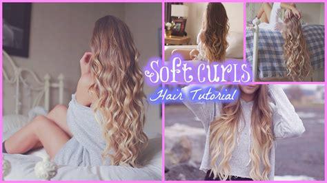 soft curls hair tutorial youtube