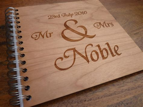 personalised wooden wedding guestbook personalised gifts
