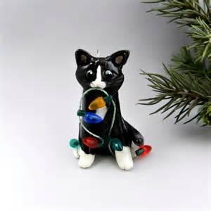 tuxedo cat ornament cat black white tuxedo ornament by themagicsleigh