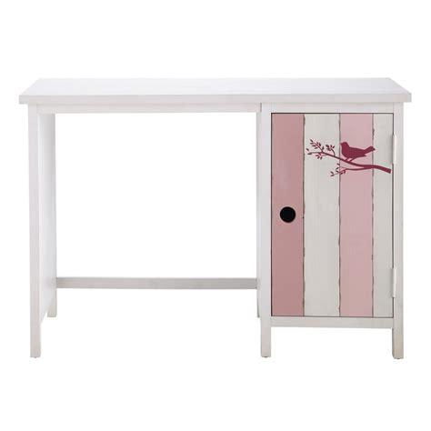 bureau 110 cm bureau enfant en bois et blanc l 110 cm violette