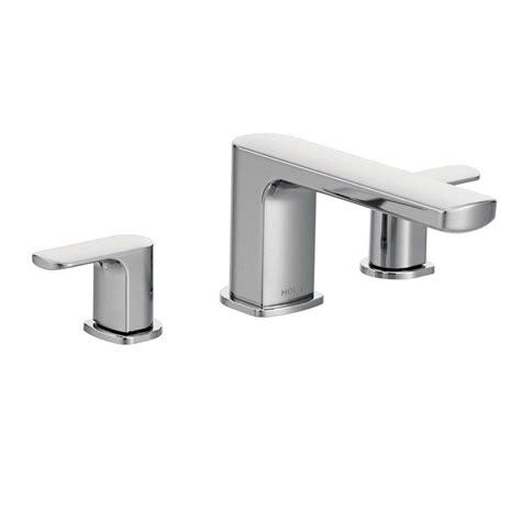 moen rizon  handle deck mount roman tub faucet trim kit