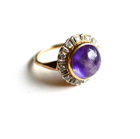 deco amethyst ring deco amethyst ring at 1stdibs