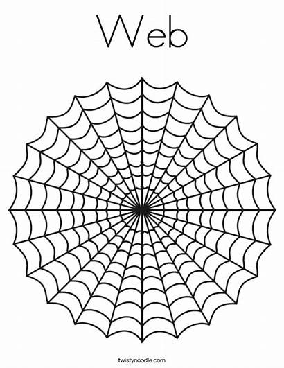 Web Coloring Pages Halloween Widow Spider Charlotte