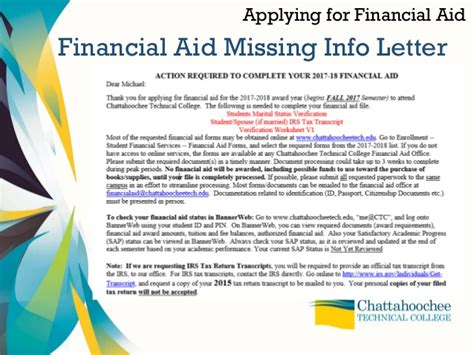 financial aid and your money presentation
