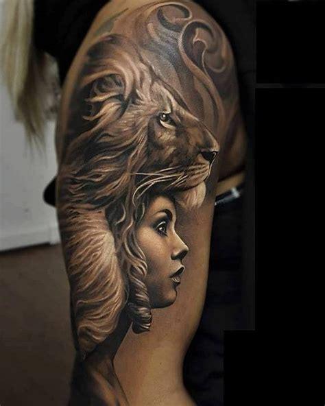 amazing lion tattoo design pictures  images