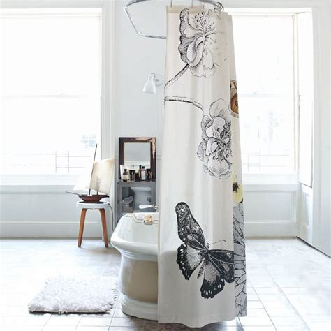 butterfly shower curtain shower curtain with butterfly pattern