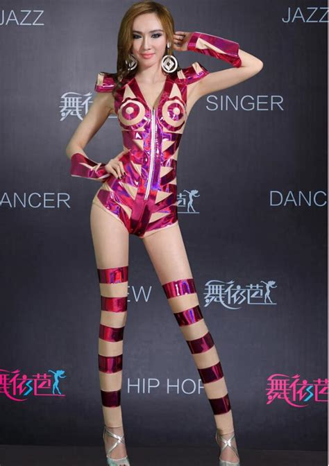 2017 Fashion New Women Shiny Sexy Stage Wear,Hiphop Girl