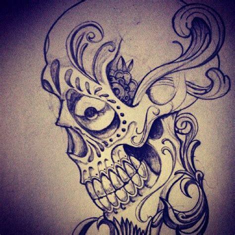 tattoo skull scroll tattooskull drawing love draw