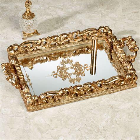 mirror vanity tray elaine venetian gold mirrored vanity tray