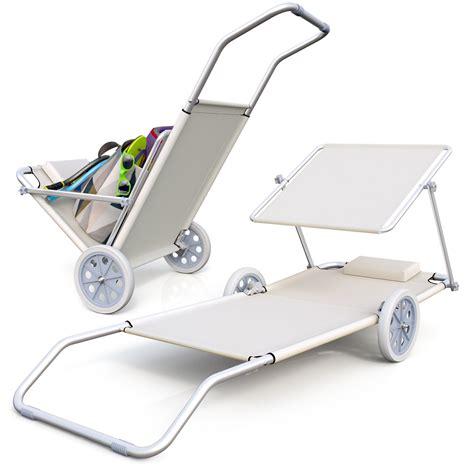 chaise longue plage pliable chaise longue de plage avec roues transat de plage chariot
