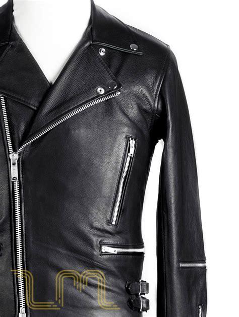 classic leather biker jacket maverick by leather monkeys