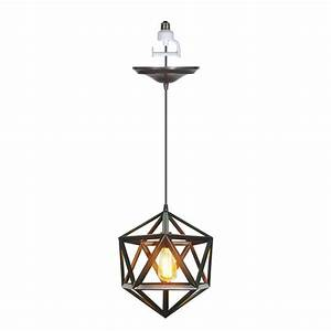 Worth home products instant pendant series light brushed