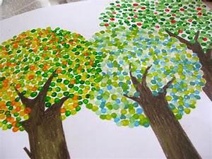 Malen Mit Kindern : b ume mit wattest bchen malen inspiration pinterest basteln basteln mit kindern und malen ~ Orissabook.com Haus und Dekorationen