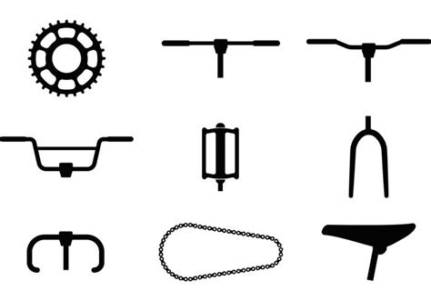 bike part vector icons   vector art stock graphics images