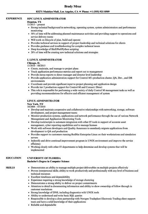 linux administrator resume sles velvet