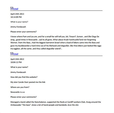 guest book samples sample templates
