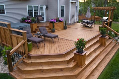 selection  styles   wooden outdoor steps