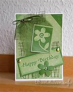 Geburtstagskarte Basteln Einfach : bastelideen kartenbasteln geburtstagskarte mit blumen ~ Orissabook.com Haus und Dekorationen