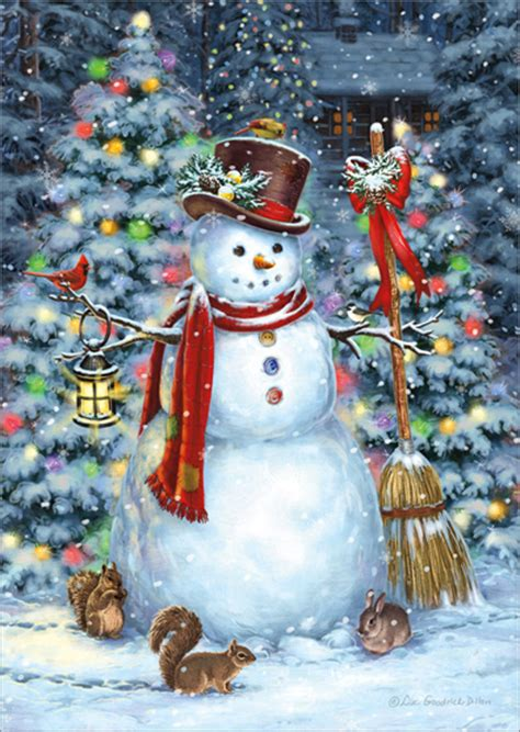 woodland snowman  friends box   liz goodrick dillon