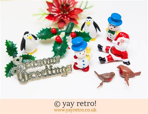 vintage kitsch christmas cake decorations   buy yay