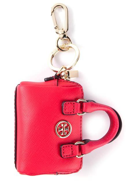 lyst tory burch handbag key chain  red