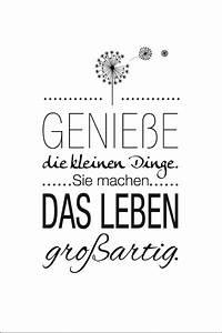Schwarz Weiß Sprüche : genie e die kleinen dinge sie machen das leben gro artig design life small things great ~ Orissabook.com Haus und Dekorationen