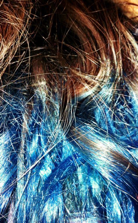 Boredom And Clothes Blue Dip Dye Hair
