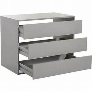Tiroir Pour Dressing : commode 3 tiroirs pour dressing largeur 87 cm 3suisses ~ Teatrodelosmanantiales.com Idées de Décoration