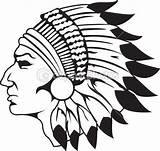 Indian Cherokee Forward sketch template