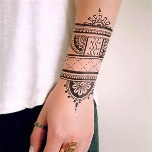 Mandala Tattoo Unterarm : henna inspired temporary tattoo tats henna ~ Frokenaadalensverden.com Haus und Dekorationen